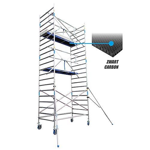 Alumexx BS AGS X-Light (Carbon-Decks) - Rol - Steiger - Licht Gewicht - AGS Light - Voorloopleuning Systemen - 7.2m werkhoogte - Carbon - Deck - Platform - Aluminium - Steiger - Bouw - Steiger - Hollands Fabricaat