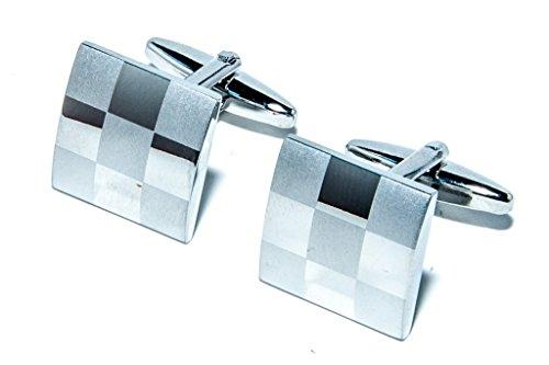 Jeff Jeffers Customs Grand Argent Bandeau DE Voiture Autocollants DE Mariage Mariage Boutons DE Manchette Cufflinks, avec Sac Cadeau