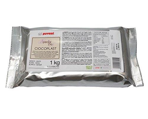 Modellierschokolade weiß 1kg, Tortendekoration, Pavoni