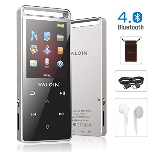 MP3 Player,8GB MP3 Player with Bluetooth 4.0, Lossless Sound Music Player Multifunction MP3 Player with FM Radio Voice Recorder Pedometer for Walking,Support up to 128GB