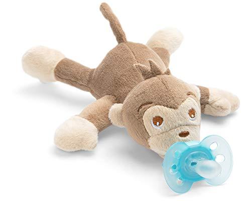 Philips Avent Snuggle Affe SCF348/12, Kuscheltier mit Schnuller ultra soft, perfektes Geschenk für Neugeborene und Babys, Schnullertier