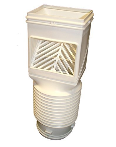 InvisaFlow 4490 Downspout Filter, White by InvisaFlow