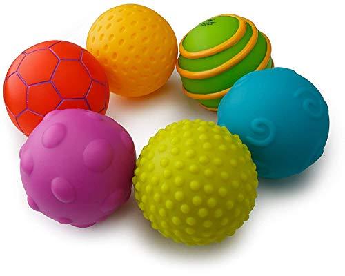 Playkidz Super Durable 6 Pack Sensory Balls, Soft & Textured Balls for Babies & Toddlers - Stress Relief Toy for Kids & Sensory Balls for Toddlers