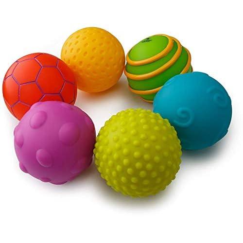 Playkidz- Super durevoli 6 Pack sensoriali, Palle morbide e strutturate Bambini Sfere 6 pacchi Durable, Multi-Color, Children, 3007