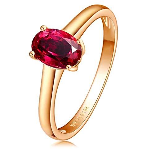 Ubestlove Verlobung Ringe Gold 750 Geschenk Frau Zum Geburtstag Oval Ring 1Ct Damenringe 54