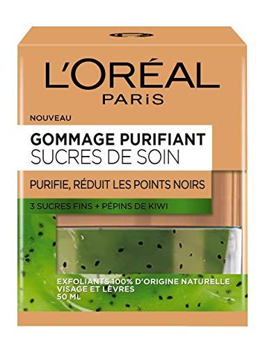 L'Oréal Paris – Gommage Purifiant Pour Le Visage et Les Lèvres – Sucres de Soin – 50 ml