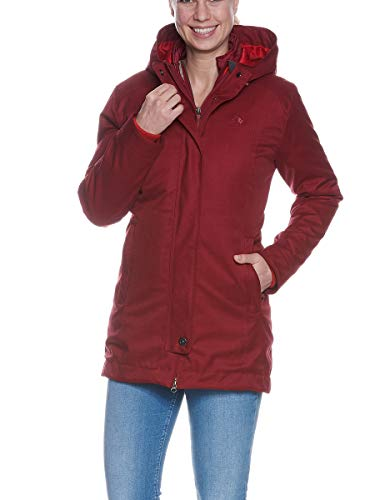 Tatonka Damen Naika W's 3in1 Coat Doppelmantel, Cherry red, 46