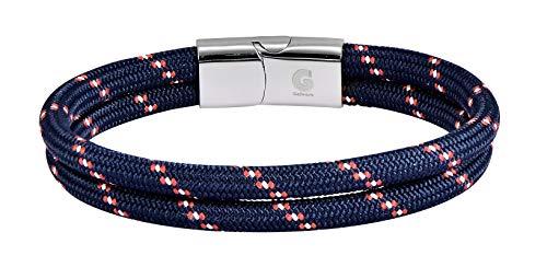 Rope Bracelet - Paracord Bracelets - Woven Bracelet Galeara Design Noa - Nautical Men Women (Red - Blue, 205)