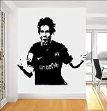Lionel Messi Soccer player super Star FC Barcelona fútbol deportes vinilo etiqueta de la pared arte DIY calcomanía cartel dormitorio decoración niño niños regalo