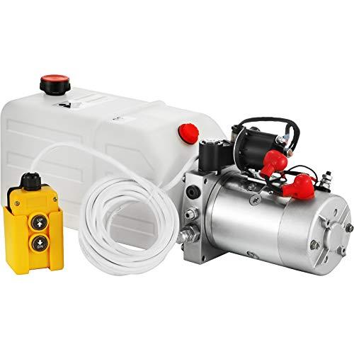 OldFe 7L Hydraulikpumpe Nenndrehzahl 2850R / MIN max. 3200 PSI Hydraulikaggregat Einfachwirkend Kipperpumpe mit Tank aus Kunststoff 4,5M Kabelfernbedienung