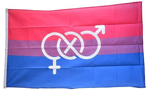 Flaggenfritze® Flagge/Fahne Bi Pride Symbol - 90 x 150 cm