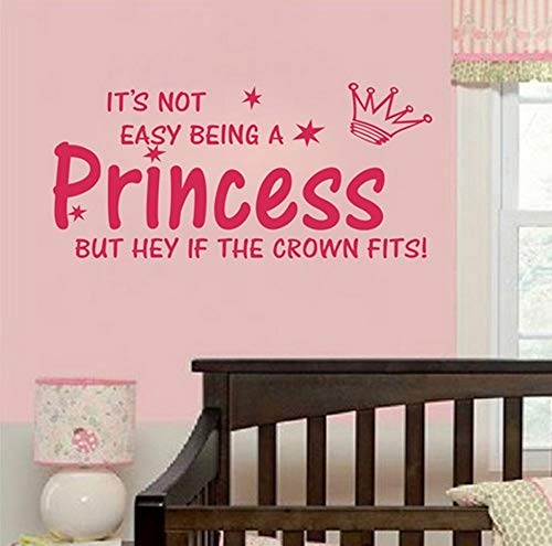 Blinggo NOT Easy Being A Princess Girl Wall Quote Sticker Graphic Vinyl Home Kid décor