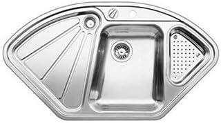 Blanco Delta IF   Einbauspüle   Eckspüle   Küchenspüle aus Edelstahl mit Überlaufschutz