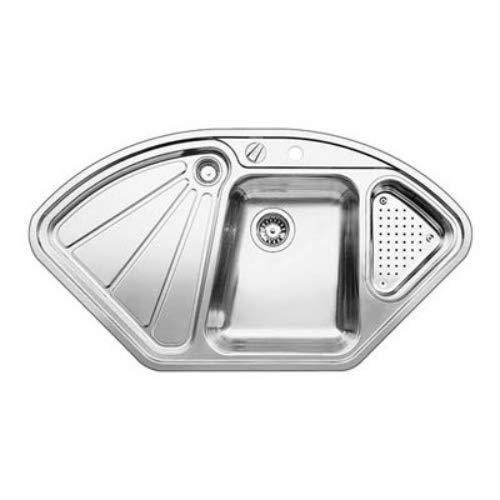 Blanco Delta IF | Einbauspüle | Eckspüle | Küchenspüle aus Edelstahl mit Überlaufschutz