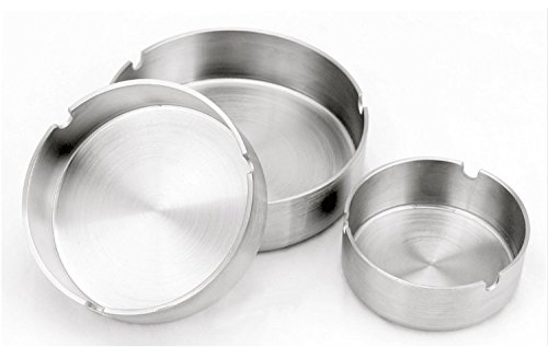 Patty Both Set of 3 Stainless Steel Ashtray 3 Size (Small/Medium/Large)