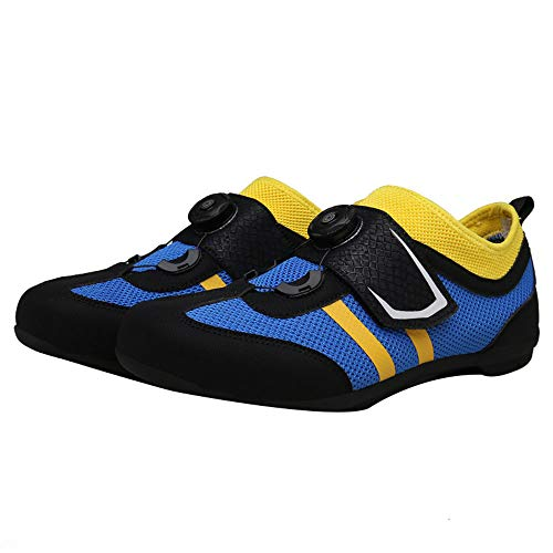 Zapatillas de Ciclismo Profesional de Primavera y Verano, Ultraligero Botón Giratorio Zapatillas de Ciclismo ponibles para Parejas, Zapatillas de Carretera Transpirables Deporte de montaña