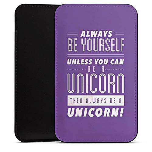 DeinDesign Cover kompatibel mit Wiko Barry Hülle Tasche Sleeve Socke Schutzhülle Einhorn Unicorn Sprüche
