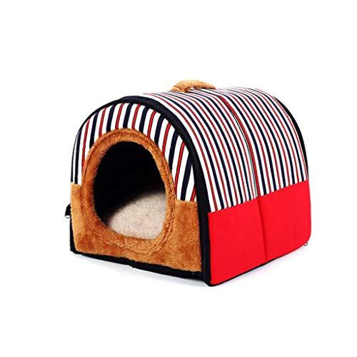 Q-HL Cama para Perros Sofá Desmontable y Lavable de Four Seasons Universal Pet Nest Cat Cat (Color : Red, Size : S)