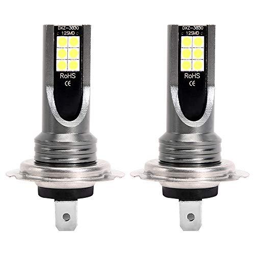 Beenle-Icey Lampadine H7 LED 24W 1200LM,Kit Lampada Sostituzione per Alogena Lampade e Xenon Luci, Luci Antinebbia a LED Automobilistiche Abbaglianti per Auto Luci Anabbaglianti