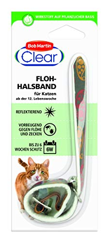 Bob Martin G2123 Clear reflektierendes Flohhalsband für Katzen