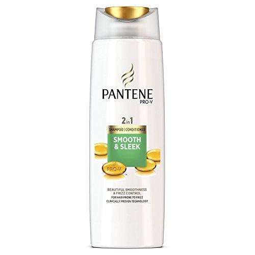 Pantene 2 in 1, shampoo e balsamo liscio, 400 ml, confezione da 6