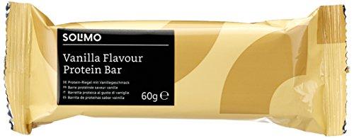Marchio Amazon - Solimo Barrette proteiche al gusto vaniglia-cioccolato (24 barrette)
