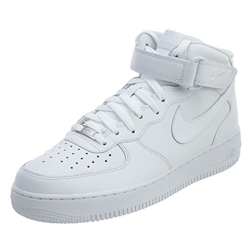 NIKE Herren Air Force 1 Mid '07 High-Top Sneaker, Weiß, 42 EU
