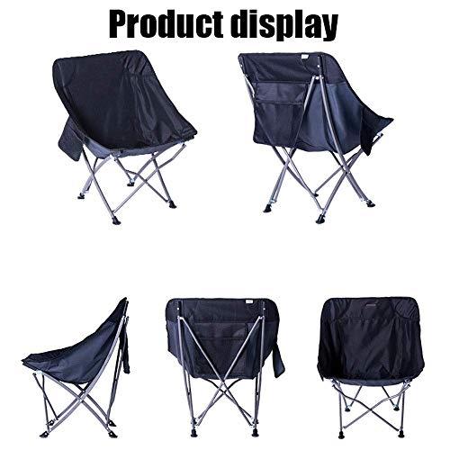 AGWa Camping Stuhl Halbmond Casual Klappstuhl Outdoor Ausrüstung Hocker Tragbare Einfache Zurück Angeln Stuhl Camping Gartenstuhl Große Liege Atmungsaktive Oxford Tuch Sofa Stuhl Leicht zu Reinigen m