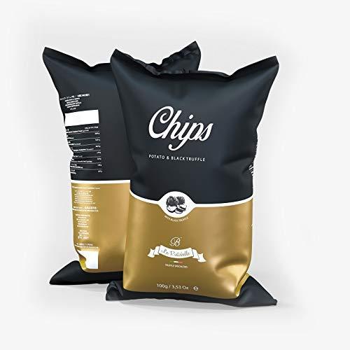 La Rustichella Black Truffle Chips 3 Confezioni, 300 Grammo