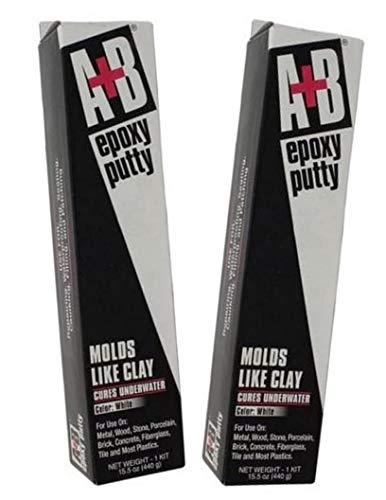 A+B 9904K White Rezolin Epoxy Putty Kit - 14 oz. - 2 Pack