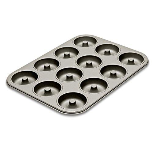 Städter 489141 Backform Motivbackform Kuchenform Donutform, Antihaft beschichtet, Silber
