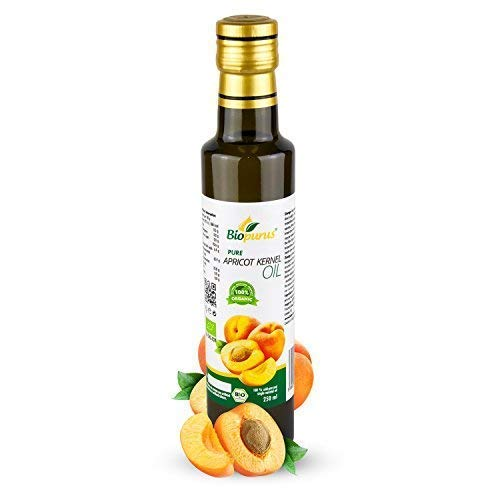 Certified Organic Cold Pressed Apricot Kernel Oil 250ml Biopurus