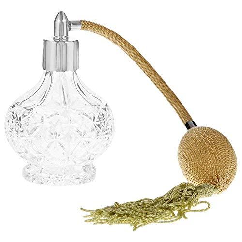 ACAMPTAR Atomizador Regalos de Fragancia Largo Vintage Vaporizador de Perfume Botellas de Vidrio Senora 100ML