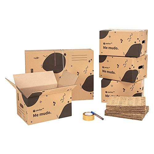 packer PRO Pack Mudanza Eco con 5 Cajas Carton Mudanza 600x300x275mm, 10...