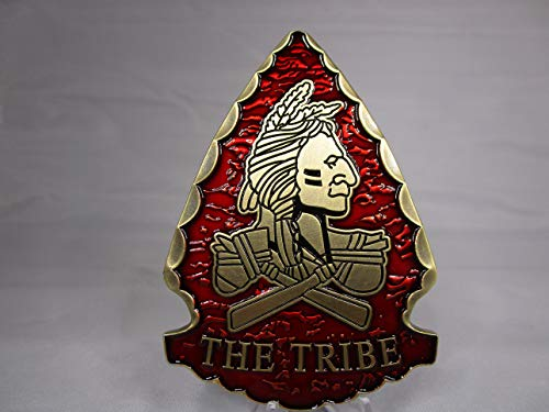 United States Special Operations Command Navy Seal Team 6 The Tribe Red Squadron Arrowhead Shape Challenge Coin