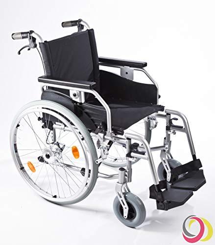 bescomedical Rollstuhl Primus MS 2.0, Faltbar, Trommelbremse mit Steckachsensystem, Sitzbreite 43 cm
