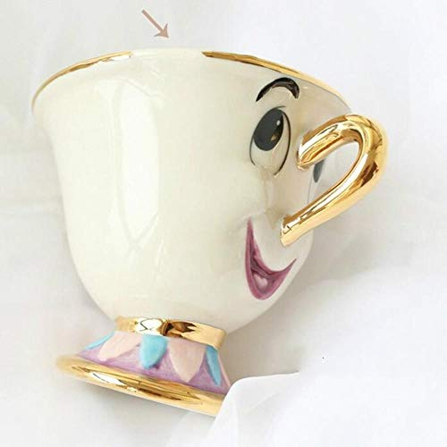 Oude Stijl Cartoon Schoonheid en Het Beest Theepot Mok Mevrouw Potts Chip Theepot Cup Een Set