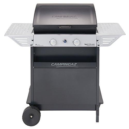 Campingaz Xpert 200 L Vario Barbacoa Gas, BBQ gas con 2 quemadores, 7.1kW de portencia, Parrila y Plancha de acero esmaltado , 2 Mesas...