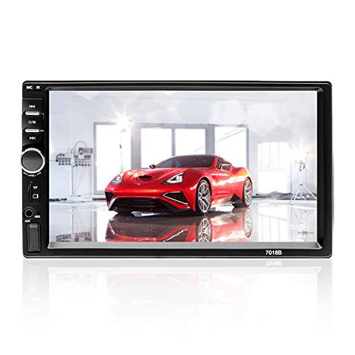 Aigoss Car Stereo Bluetooth MP5 Video Digital Player 7' Touch Screen 2 Din Car Radio Wireless Remote Control Hands Free Multimedia with Rear-View Camera, Support Backup/TF/FM/AUX/USB