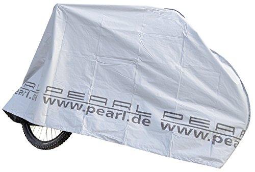 PEARL Fahrradgarage: Zweiradgarage für Fahrräder/E-Bikes/Motorroller, Silber (Fahrradabdeckung)