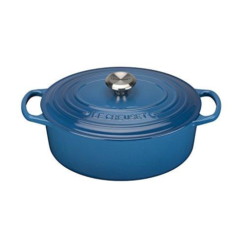 Le Creuset 211782720, Panela Oval, 27 cm, Azul Marseille