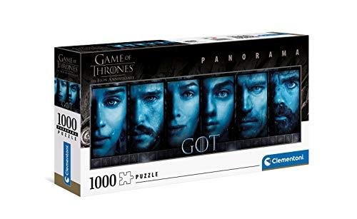 Clementoni- PZL 1000 Panorama Juego DE Tronos Game of Thrones Puzzle Adulto, Multicolor (39590)