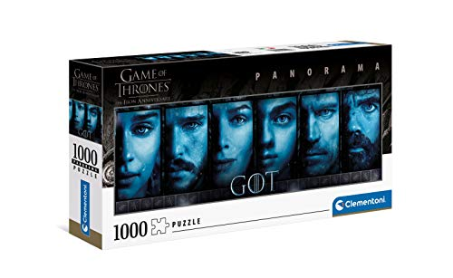 Clementoni 39590 Game of Thrones – Erwachsene 1000 Teile Panorama-Puzzle – Made in Italy, Mehrfarbig