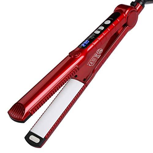 Lisseur cheveux, Fer à défriser à tension double de 1 po à coupe automatique pour salon et redresseur professionnel 3 en 1 (Couleur : Red)