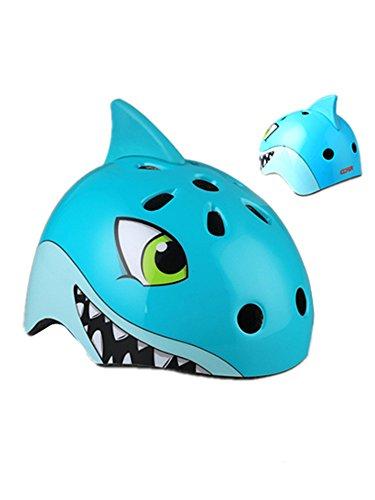 Beautisun Fahrradhelm 3D Tier Kinder Verstellbare Größe für 2 bis 8 Jahre alt Sicherer Kinderhelm mit Wassertier Sport Helm für Radfahren Mädchen Jüngen Skaterhelm