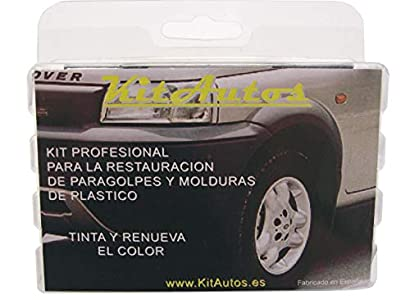 KITAUTOS KRPM2 Kit RESTAURADOR PARAGOLPES Y MOLDURAS DE PLASTICO Color Negro