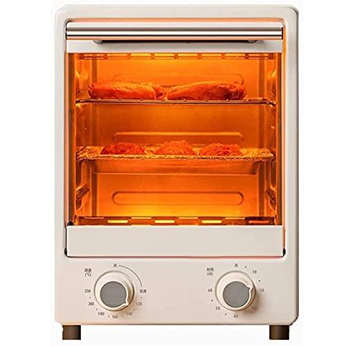 Mini horno eléctrico, hornos de freidora del aire Horno de tostadora multifuncional 12L Capacidad grande 60 minutos Temporizador 900W 30 ° C-230 ° C Control de temperatura Pan hornear Herramientas de