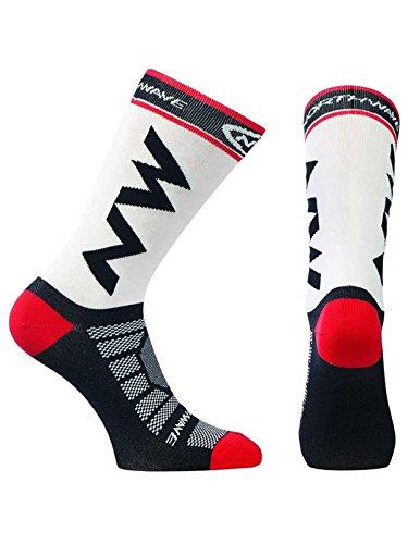 Northwave Extreme Pro Fahrrad Socken weiß/schwarz/rot 2020: Größe: L (44-47)