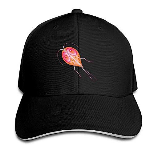 Hangdachang Sombrero unisex ajustable liso para parejas, microorganismo, deporte, gorra de béisbol, al aire libre, sombrero negro