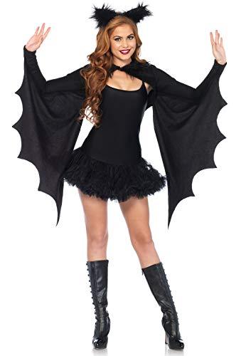 Leg Avenue Cozy Bat Fledermaus Damen Kostüm schwarz onesize